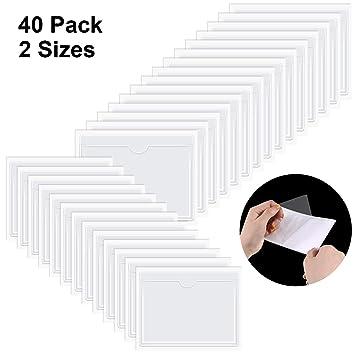 Amazon.com: 40 unidades autoadhesivos de bolsillo para ...