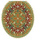 Toilet Tattoos TT-1090-R Medallion Decorative Applique for Toilet Lid, Round