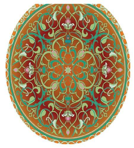 Toilet Tattoos TT-1090-R Medallion Decorative Applique for Toilet Lid, Round by Toilet Tattoos