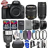 Nikon D5600 24.2MP DSLR Camera + 18-55mm VR Lens + Nikon 70-300mm Lens- 64GB Kit