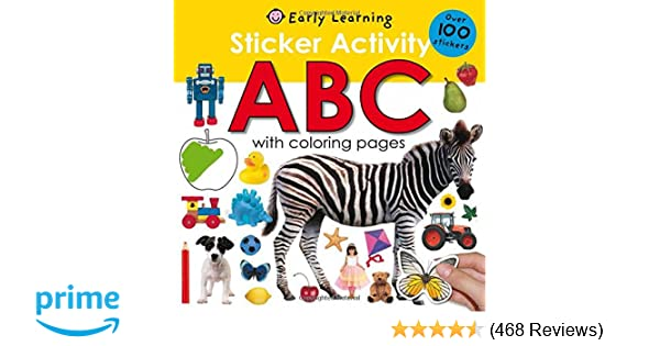 Amazon Sticker Activity ABC Over 100 Stickers With Coloring Pages Fun 9780312504830 Roger Priddy Books