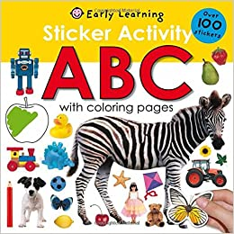 Amazon Com Sticker Activity Abc Over 100 Stickers With Coloring