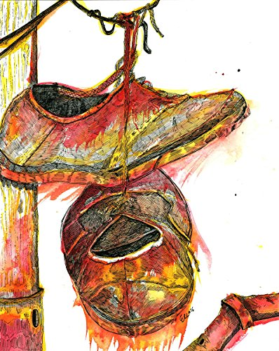 ''Sneakers'' Pen & Ink with Ink Wash on Paper - Original by Eli Portman by TOROSIETE