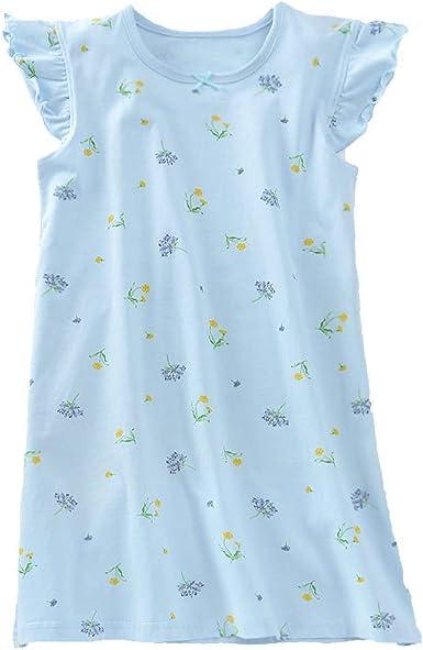 Flor de niñas Camisones de algodón Ropa de Dormir Azul 11-12 años: Amazon.es: Ropa y accesorios