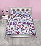 Jojo Siwa Dreams Bows Reversible 2 Sided Kids Rotary Double Bed Duvet Quilt Cover Set