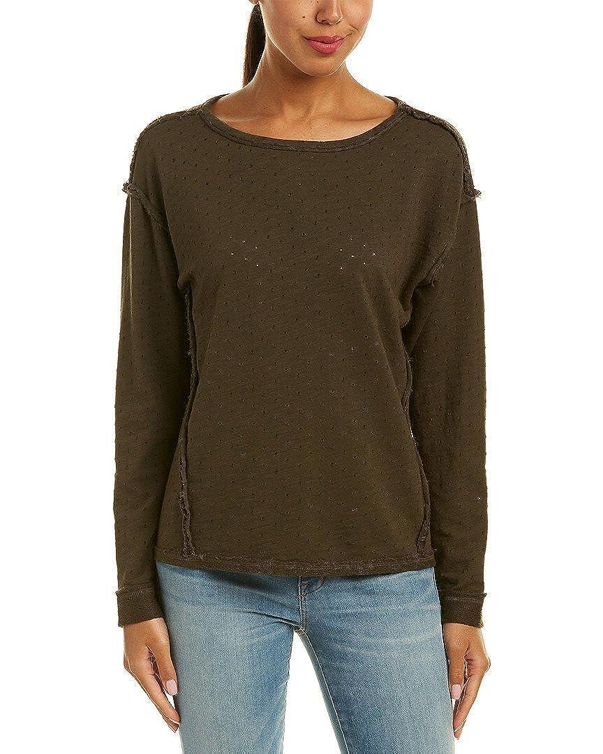 Michael Stars Womens Terry Sweatshirt, Xs, Green A377