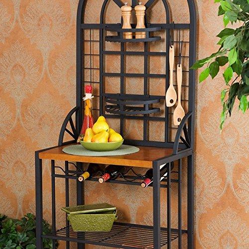 Wine Rack Storage Unit with Elegant Craftsmanship for the Perfect Kitchen Shelf Area