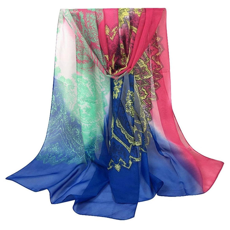 Elaco Trendy Women's Long Print Scarf Wrap Ladies Shawl Girl Tole Styles