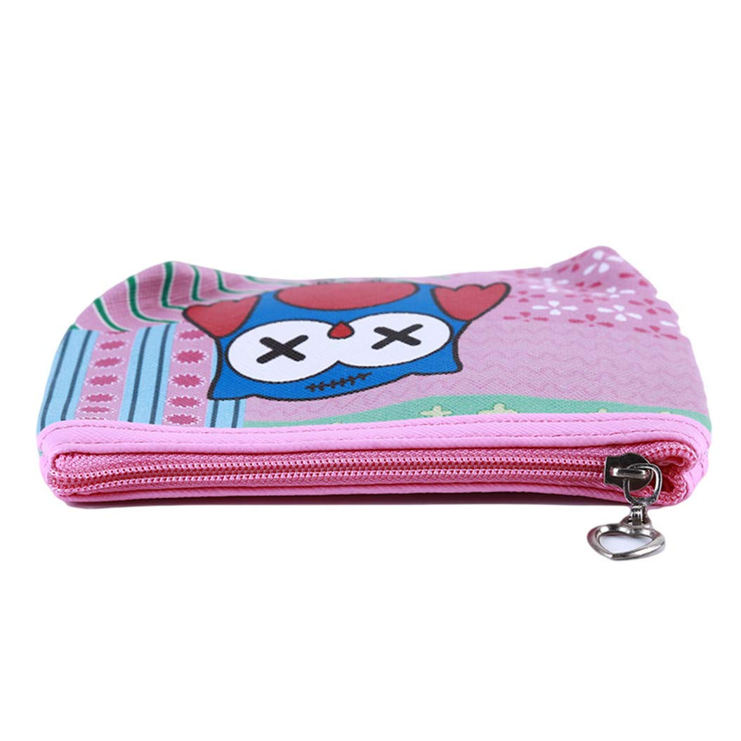LZIYAN Cute Coin Purse Cartoon Owl Pattern Coin Purse Clutch Bag Portable Small Wallet With Zipper Storage Bag Creative Gift For Women,2# by LZIYAN (Image #4)