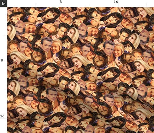 90210 Fabric - Pop Culture Television Tv 90S 1990S Beverly Hills Print on Fabric by The Yard - Sport Lycra for Swimwear Performance Leggings Apparel Fashion (Beverly Fabrics)