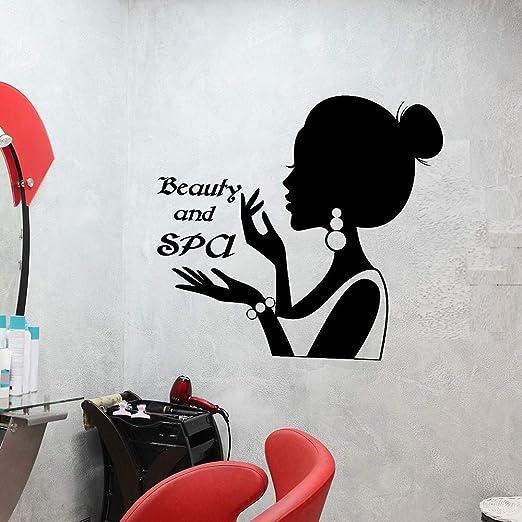 yaoxingfu Vinilo Tatuajes de Pared Belleza y SPA Logotipo Letrero ...