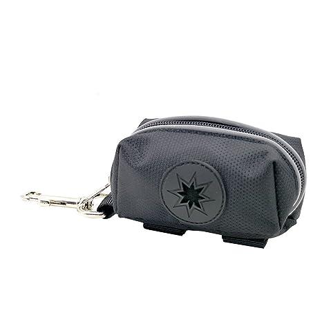 UEETEK Excremento de perro Bolsa titular bolsas de residuos Leash Adjunto Accesorio ligero para mascotas Paseo y accesorios de senderismo (Negro)