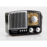 Radio retro vintage am fm com bluetooth entrada auxiliar usb
