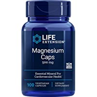 Life Extension Magnesium Vegetarian Capsules, 500 mg, 100 Count
