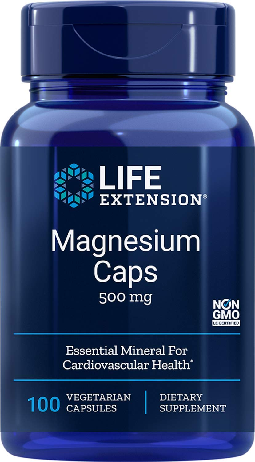 Life Extension Magnesium Caps (500mg, 100 Vegetarian Capsules), 1 Units