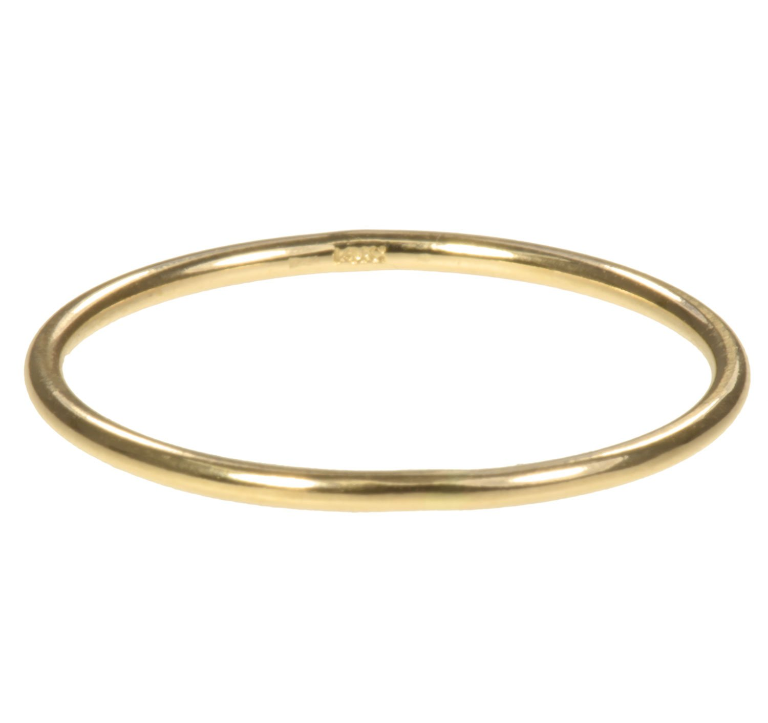 14K Solid Gold Stacking Rings 1mm Round Size 5