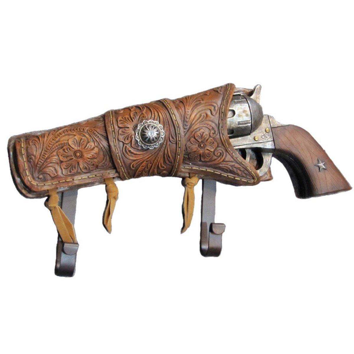 Coat Hook Hanger Rack Revolver Gun Pistol Western Decor