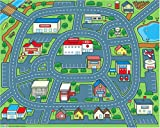 ": Driving Around Town Foldable Play Mat 60"" x 48"""