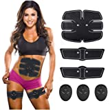 Abs Stimulator for Fat Burner, Waist Trainer, Abdominal Muscle Toner at Home Gym the Office Fitness, Abdominal Toner Workout Equipment for Abdomen Arm Leg Waist Training, Black