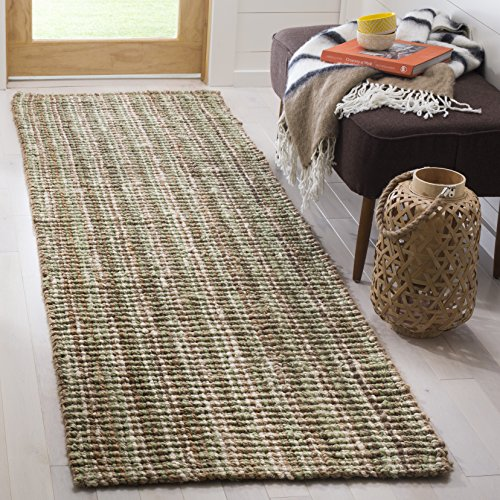 Safavieh Natural Fiber Collection NF447S Hand Woven Sage and Natural Jute Runner (2'6