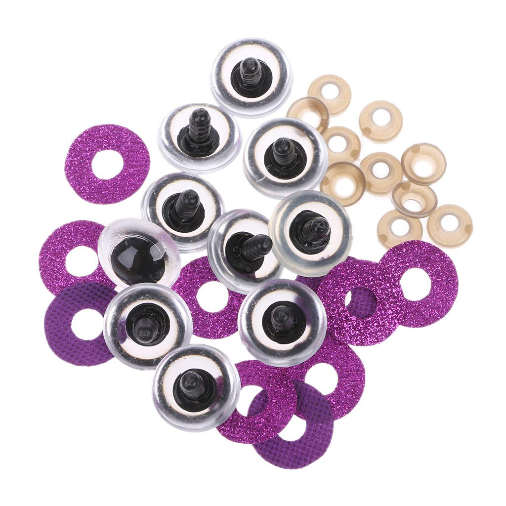 Siwetg 16 20 24mm 10 Unids Shinning Plastic Doll Eyes Craft Eyes DIY para Plush Bear Stuffed Toys Animal Mu/ñecas T/ítere