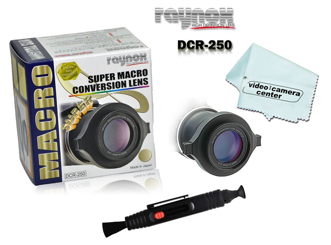 Raynox DCR-250, Macro-Scan 2.5x Super Macro Conversion Lens, with Snap-on Universal Mount for 52mm to 67mm Filter Diameters + LensPen Lens Cleaner + 1 VCC113 Micro-Fiber Cloth