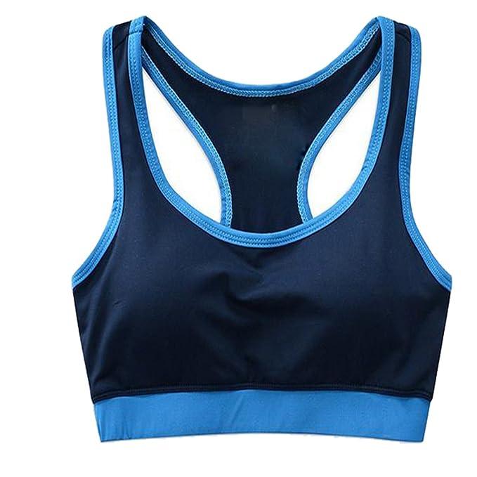 Hsnnyqt Sujetador Deportivo M Moda Yoga Transpirable Sujetador Chaleco De La Señora Reafirmante: Amazon.es: Ropa y accesorios