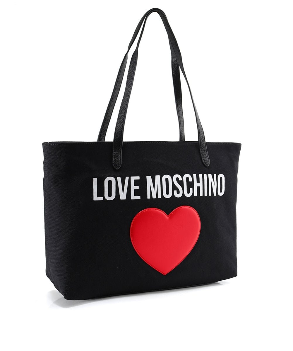 Love Moschino Women's Canvas Logo Shopper Bag Black One Size by Love Moschino (Image #2)