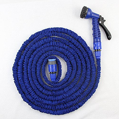 Rhegeneshop Latex 25 to 200 Feet Expanding Flexible Garden Water Hose with Spray Nozzle 60M/200FT ()