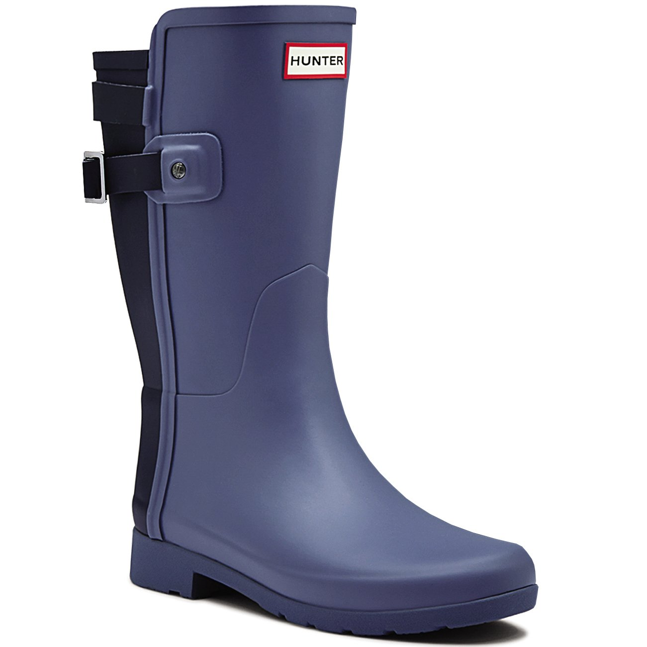 Womens Hunter Original Refined Back Strap Short Wellingtons Winter Boots B015SJC9V0 5 B(M) US|Mineral Blue/Midnight