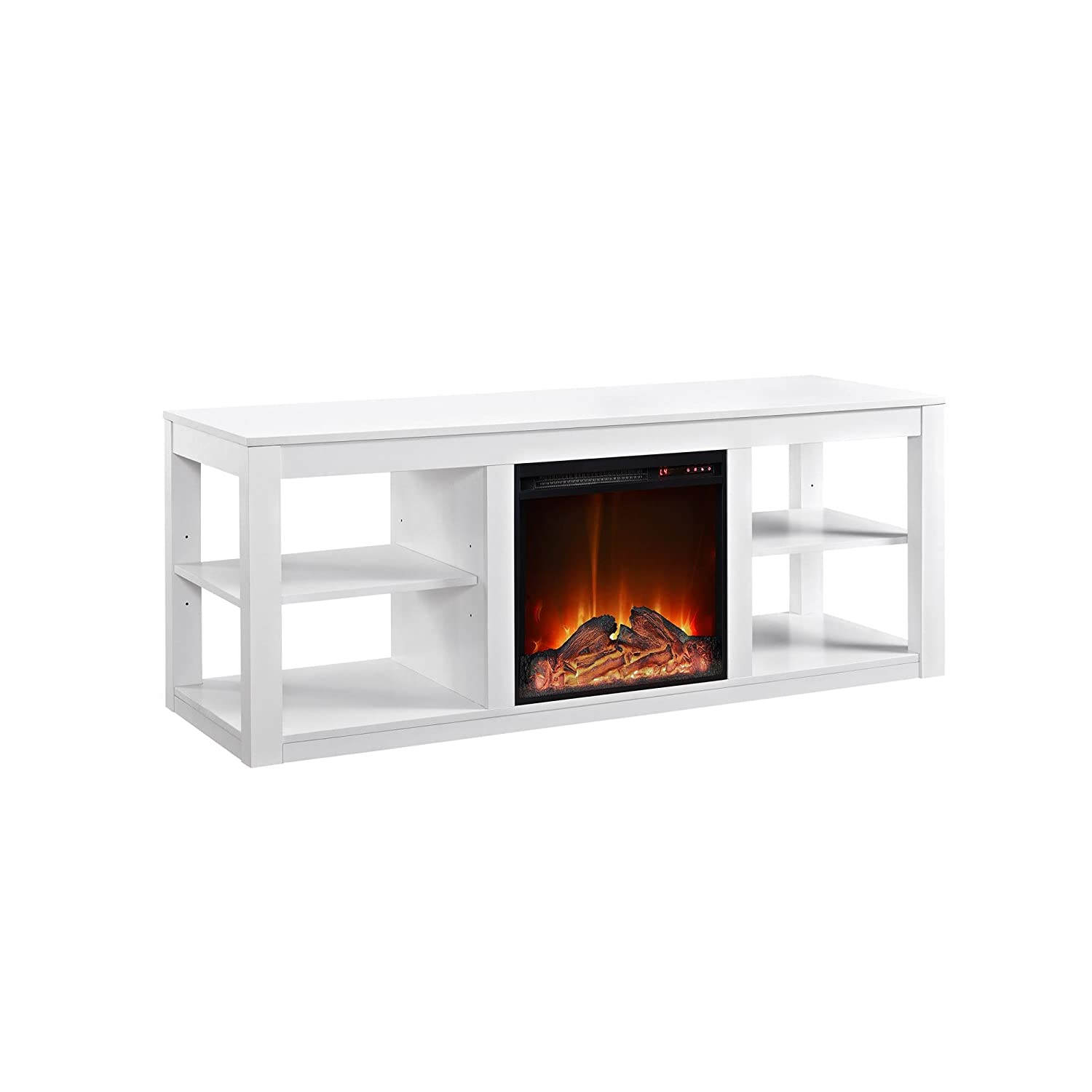 amazon com ameriwood home parsons electric fireplace for tvs up