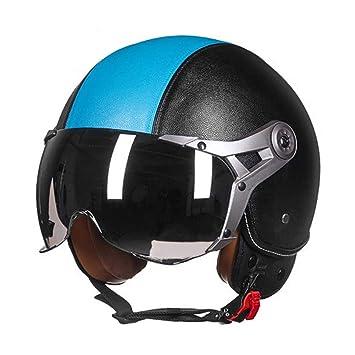 Jet Helm Vier Jahreszeiten Unisex Scooter-Helm Halberhelm f/ür Erwachsene M/änner Frauen LEENY Retro Jethelm Herren Motorradhelm f/ür Motorr/äder Roller Elektrofahrzeuge M, L, XL ,Black,L