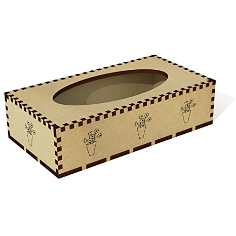 Azeeda Longue  Coquelicots dans Un Vase  Boîte à mouchoirs en Bois  Couverture (TB00011822 6f266ee47ea