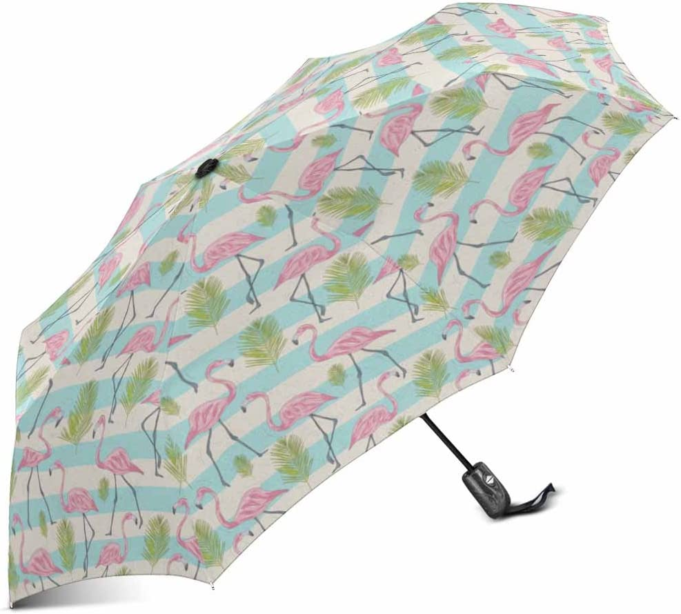 Happy Valentine Day Seamless Pattern Compact Travel Umbrella Windproof Reinforced Canopy 8 Ribs Umbrella Auto Open And Close Button Customized