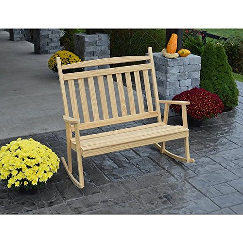 A & L FURNITURE CO. Yellow Pine Double Classic Porch ()