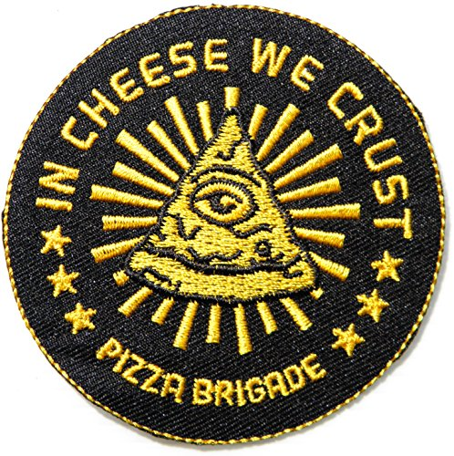 IN CHESSE WE CRUST PIZZA BRIGADE Pizza Hut Cooking Chef Kid Baby Jacket T-shirt Patch Sew Iron on Embroidered Applique Sign Badge Costum Gift
