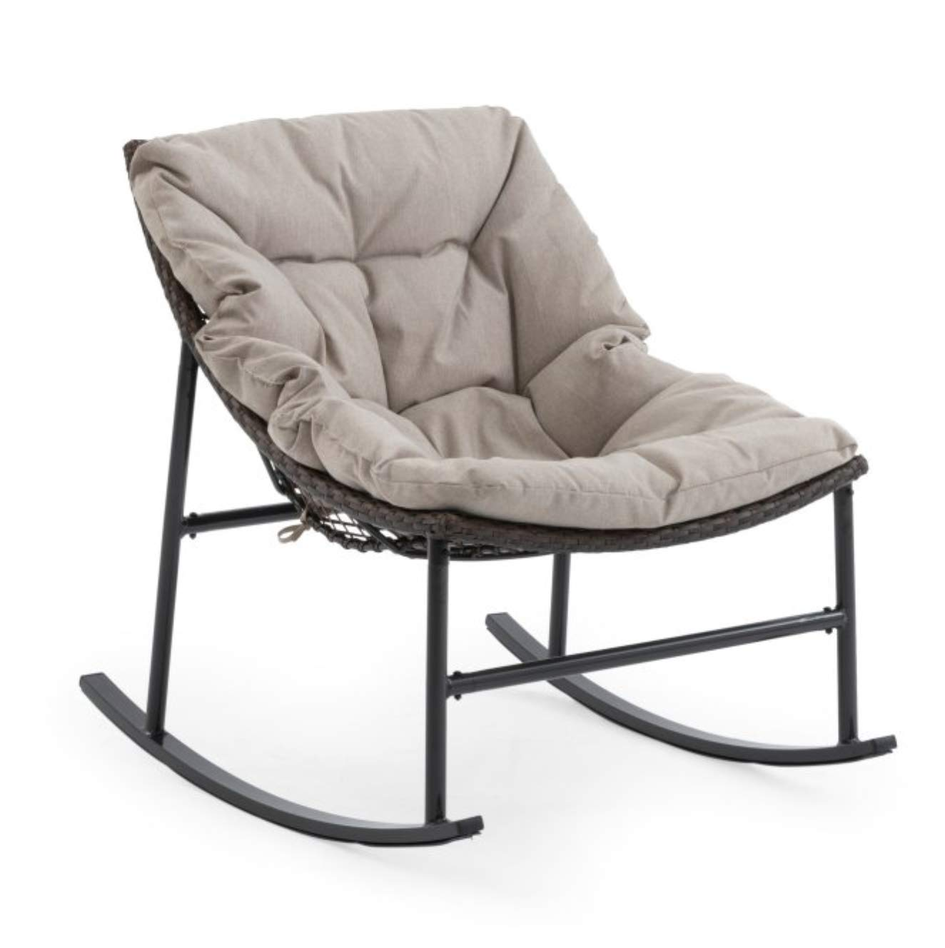 Amazoncom Palos Home Resin Wicker Outdoor Patio Rocking Chair