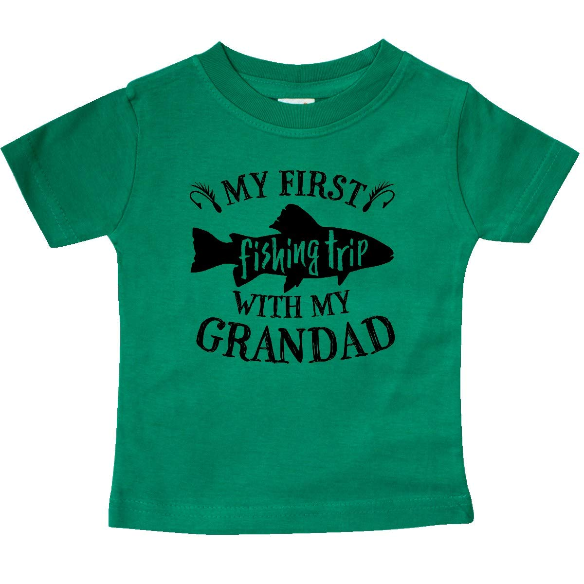inktastic My First Fishing Trip with My Grandad Baby T-Shirt
