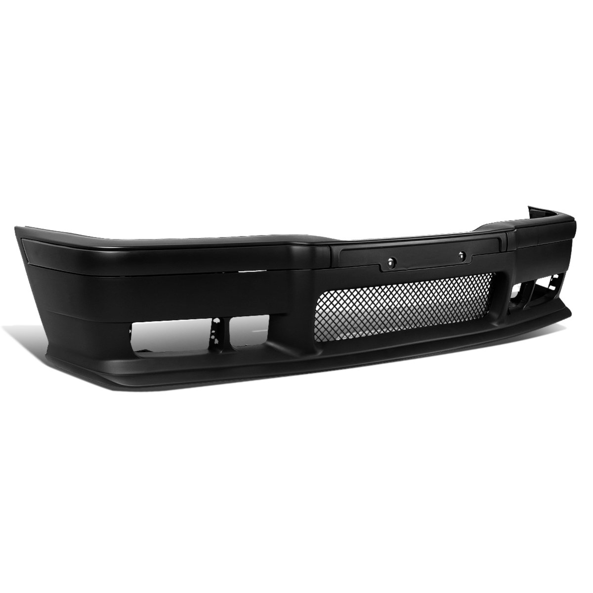 For BMW E36 3-Series Unpainted ABS M3 Style Front Bumper + Mesh Grille