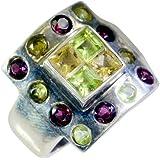 Riyo bague en argent bijoux faits main en argent 8 les multiples de gemmes femmes