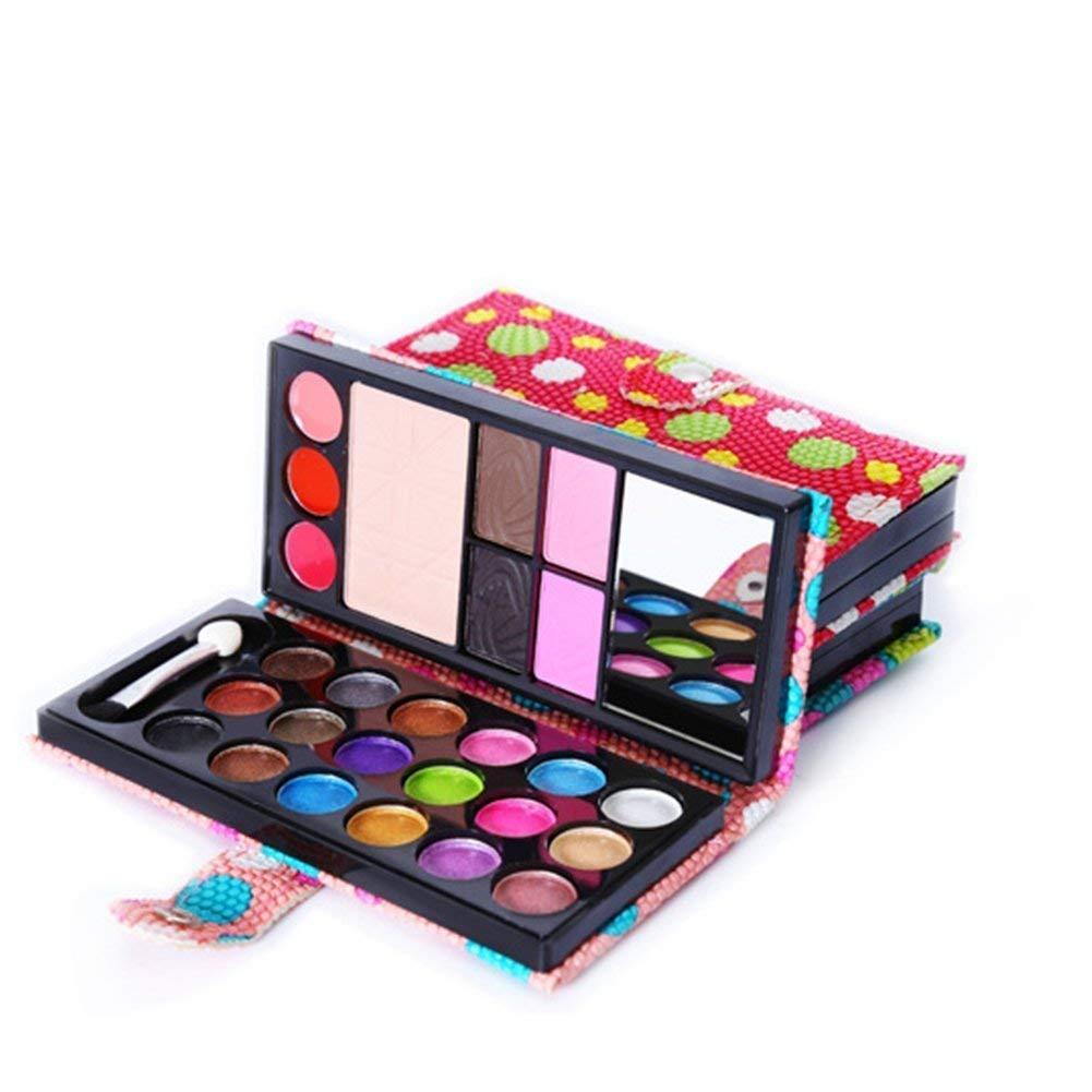 Nicedeal compone la gama de colores cosmé tica caja de sombra de ojos y colorete/del polvo de cara/el lustre/cepillo Incluido en 26 colores Belleza estuche de maquillaje profesional Productos