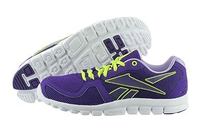finest selection ecba8 1759c Reebok Women s Your Flex Run 4.0 Running Shoe,Ultraviolet Neon Yellow Crisp  Purple