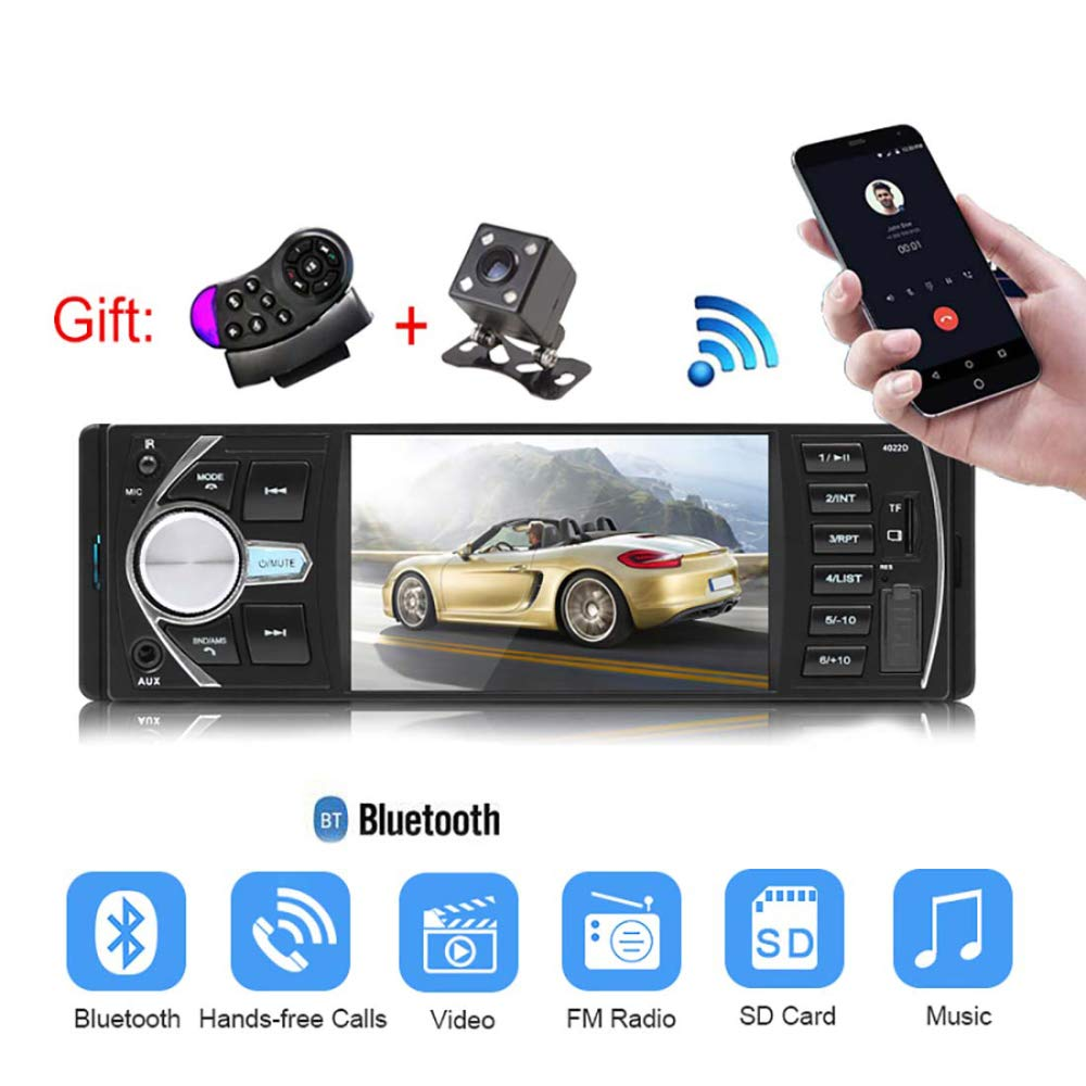 XIAOYUB Car hd 4.1 inch Bluetooth MP5 Player Back-up Priority FM Radio Card Player Back-up Package