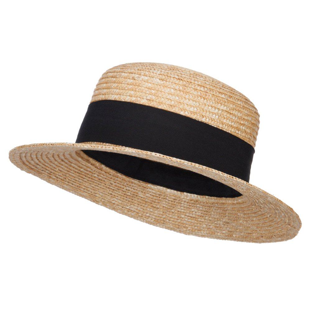 Jeanne Simmons UPF 50+ Wheat Straw Boater Hat - Natural OSFM