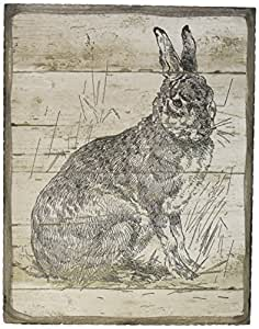 Primitives by Kathy Box Sign, 5.5 by 7-Inch, The Brown Hare