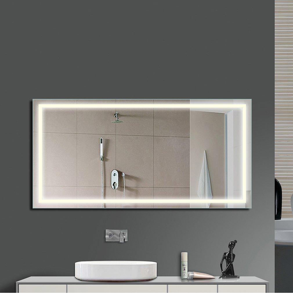 Miroir Salle Bain avec éclairage Intégré LED Blanc Froid ...