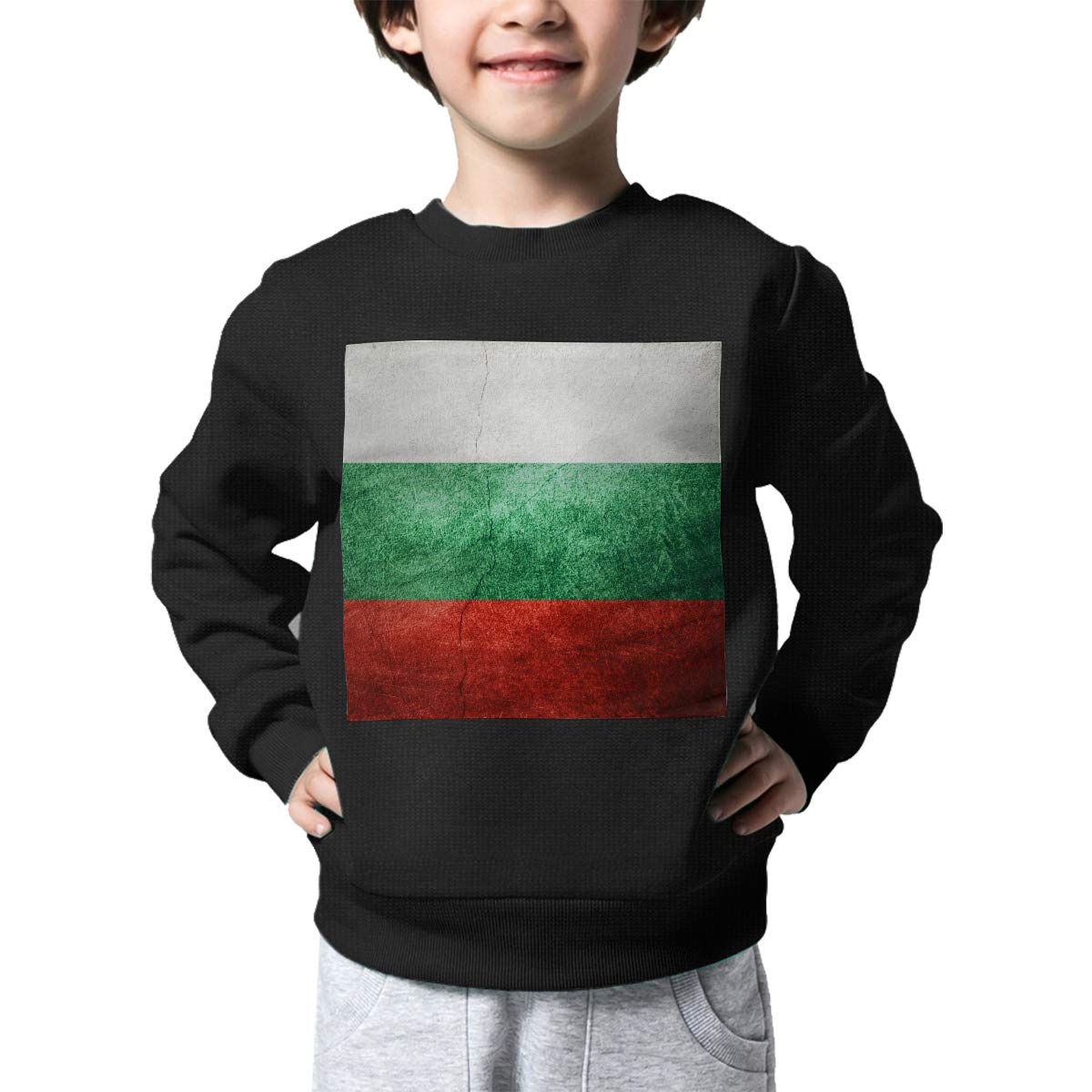Boys Girls Vintage Bulgaria Flag Lovely Sweaters Soft Warm Childrens Sweater