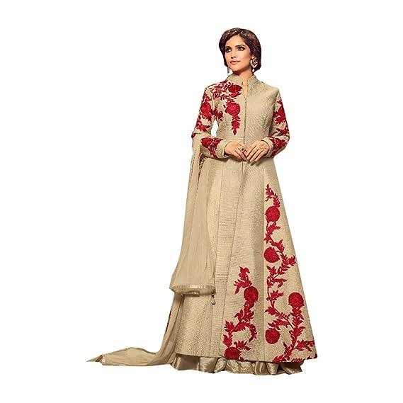 Diseñador hecho a medida Anarkali Salwar Traje Chaqueta ...