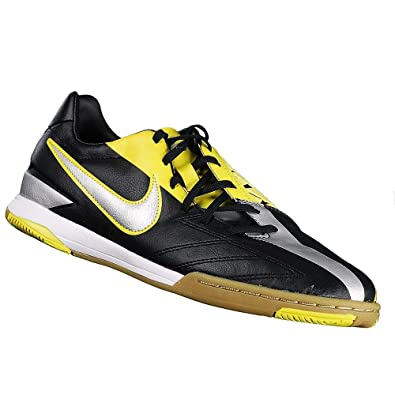 bbab35217fc Nike T90 Shoot IV IC Indoor Soccer Shoes (7) Black Yellow