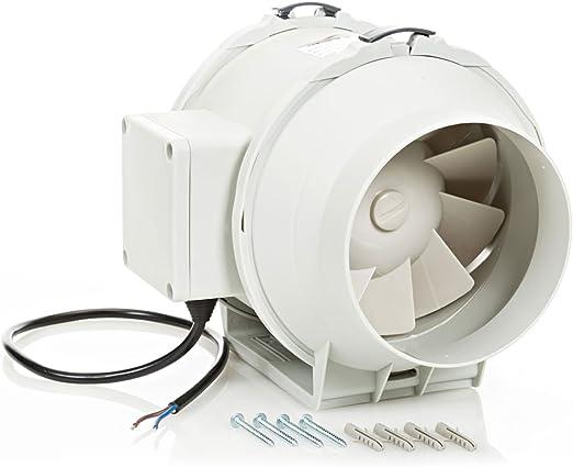Extractor en l/ínea con ventilador de conductos silenciosos 125 mm STERR DFA125